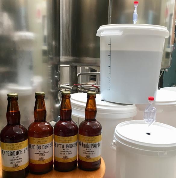 Atelier de production de la bière artisanale La Saint Pierre