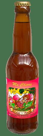 Bouteille de bière La Saint Pierre aux extraits naturels de Cerise