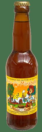 Bouteille de bière La Saint Pierre aux extraits naturels de Mirabelle