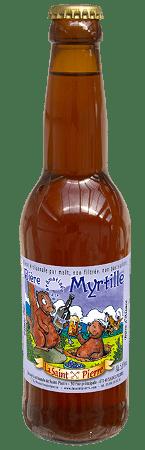 Bouteille de bière La Saint Pierre aux extraits naturels de Myrtille