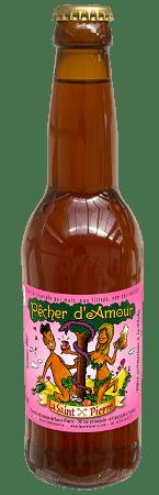 Bouteille de bière La Saint Pierre aux extraits naturels de Pêche